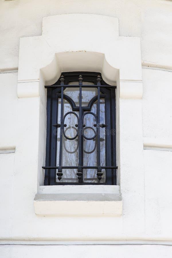 Aufwändige Fenster-Sicherheits-Stangen lizenzfreie stockfotos