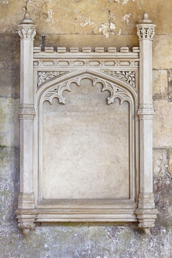 Aufwändiger geschnitzter Steinrahmen stockbilder