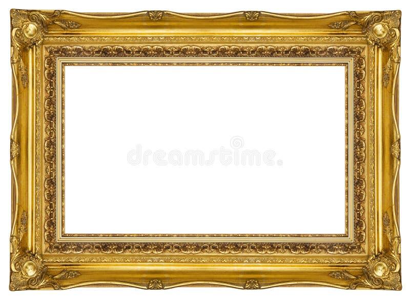 Aufwändiger Goldbilderrahmen stockfoto