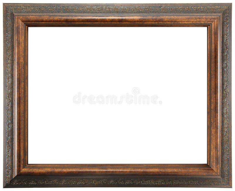 Aufwändiger Holzrahmen lizenzfreie stockfotos