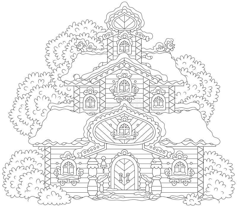 Aufwändiger Turm auf Weihnachten stock abbildung