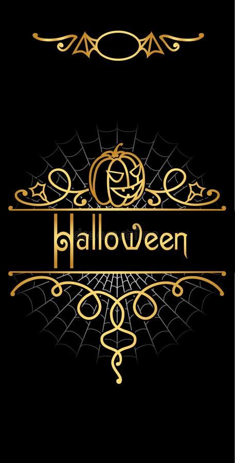 Aufwändiges Halloween flayer vektor abbildung