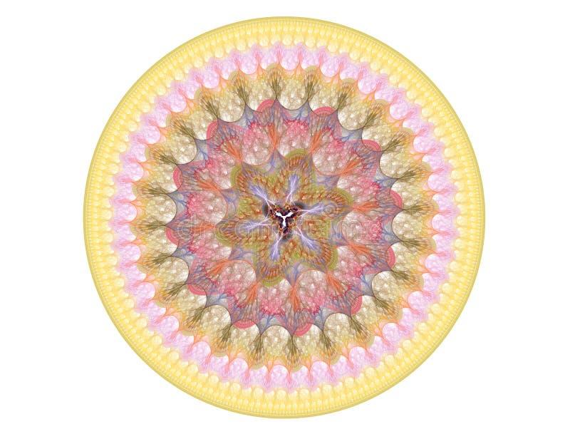 Aufwändiges rundes geometrisches vektor abbildung
