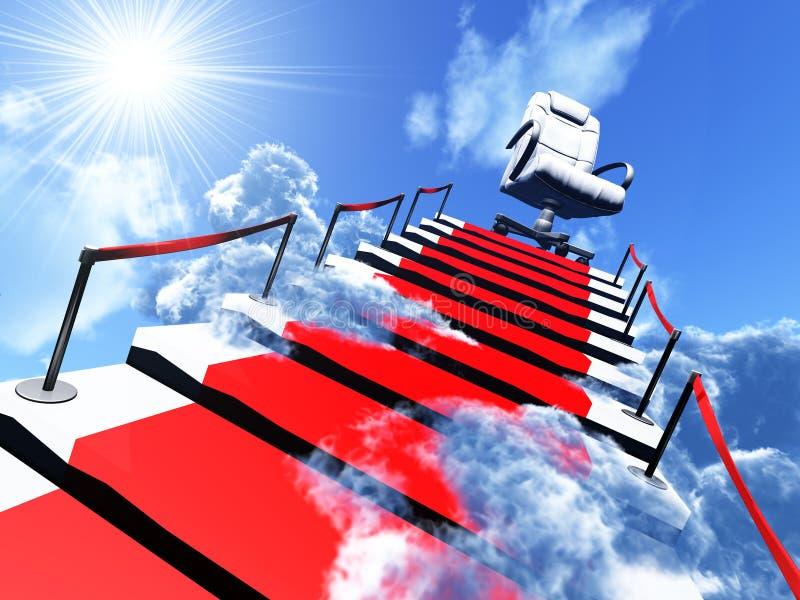Aufwärts Treppen und Lehnsessel stock abbildung