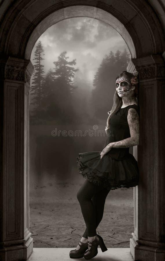Aufwartung Dame Death lizenzfreies stockbild