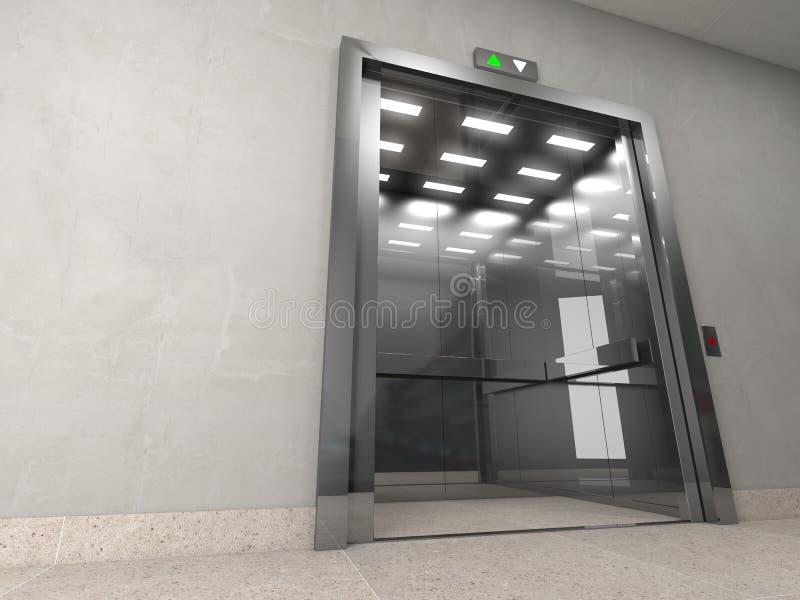 Aufzug 3d stock abbildung