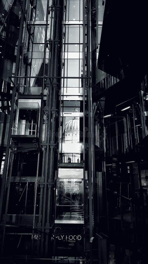 Aufzugsglas in London stockfoto