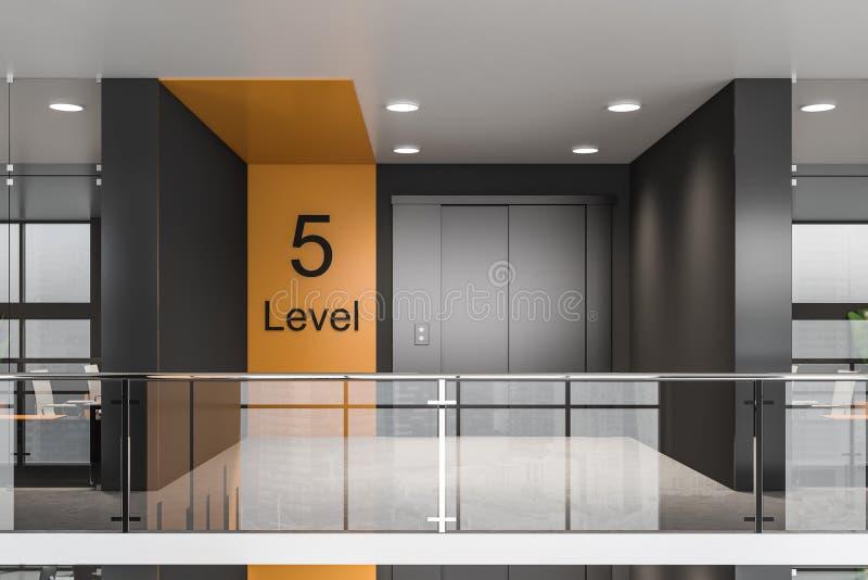 Aufzugshalle im modernen B?ro lizenzfreie abbildung