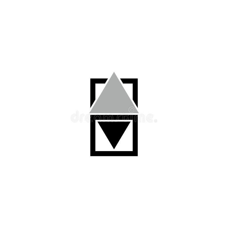 Aufzugsknopfplatten-Vektorikone lizenzfreie abbildung