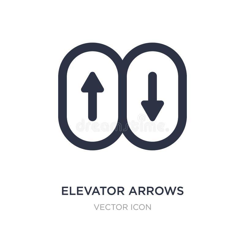 Aufzugspfeilikone auf weißem Hintergrund Einfache Elementillustration von UI-Konzept lizenzfreie abbildung
