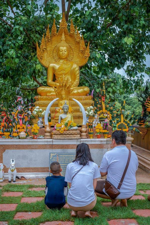 12 Aug 2019 , UdonThani Thaland ,Buddha images that people worship.  stock photo