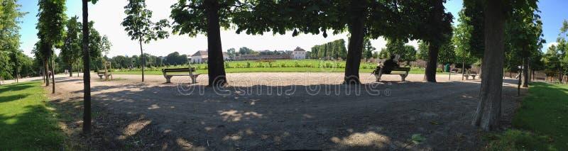 Augartenpark w Wiedeń Austria przy latem obraz stock