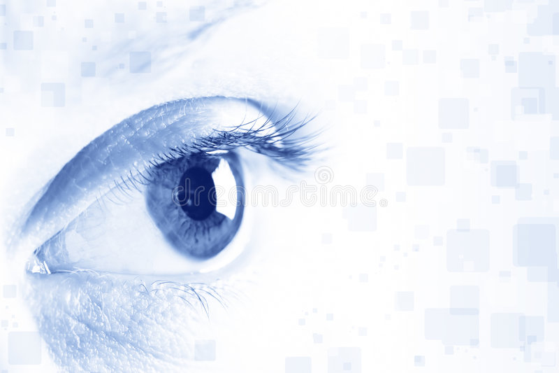 Auge lizenzfreies stockfoto