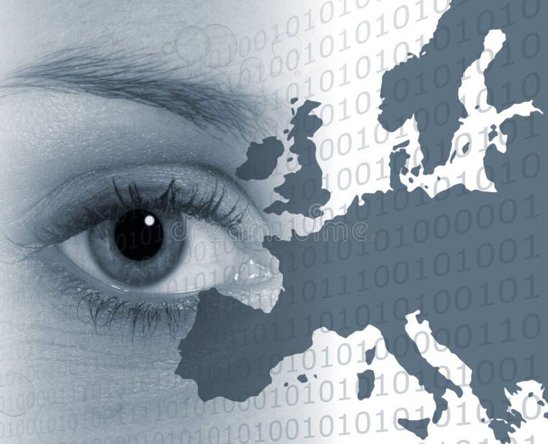 Auge auf Europa lizenzfreie abbildung