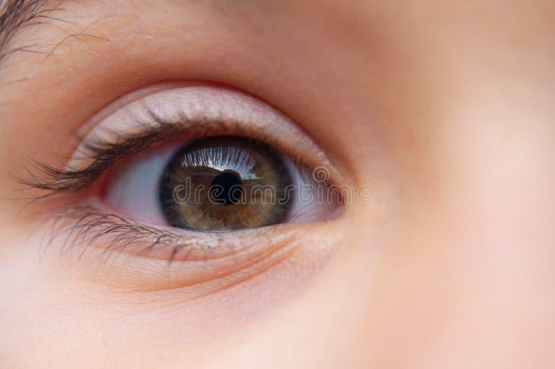 Auge auf Ihnen Untersuchen Sie mein Auge stockfotografie