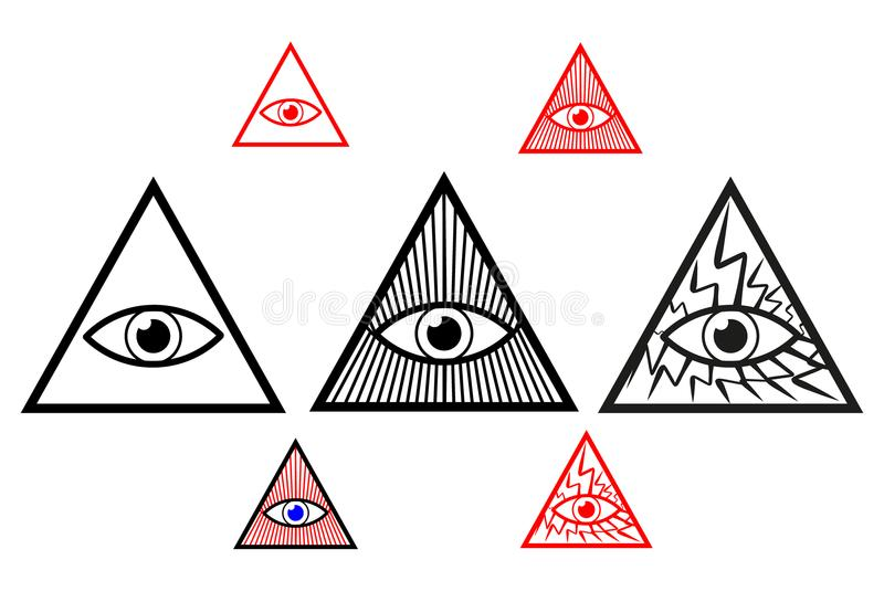 Auge des Gottes lizenzfreie abbildung