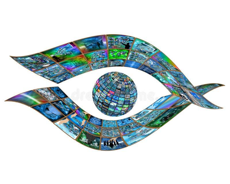 Auge des Internets stockfoto