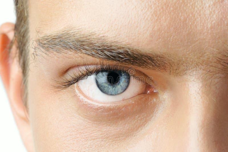 Auge des Mannes stockfotografie