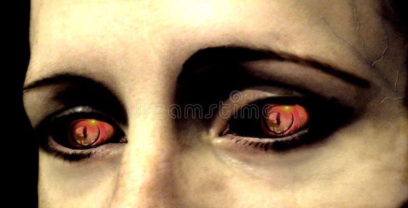 Auge des Vampirs lizenzfreie abbildung