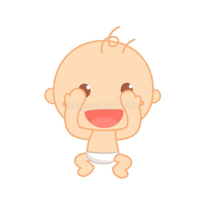 Auge do jogo do bebê uma vaia Marco miliário bonito do bebê ilustração royalty free