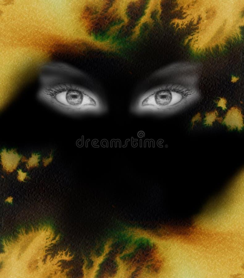 Auge in einem Feuerhintergrund vektor abbildung
