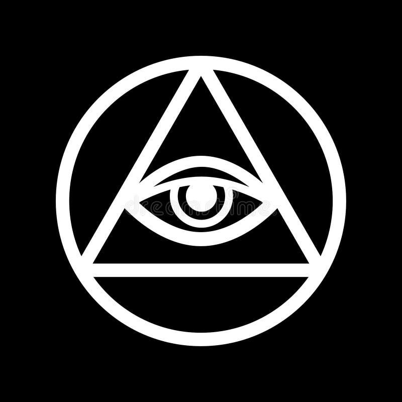 Auge Gesamt-sehen das Auge von Providence vektor abbildung