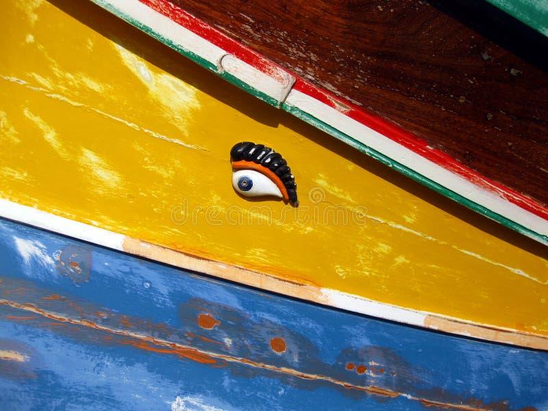 Auge von Osiris, Fischerboot lizenzfreies stockfoto