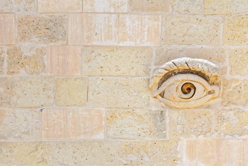 Auge von Osiris Maltese an den Toren von Valletta lizenzfreies stockfoto