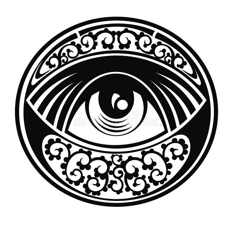 Auge von Providence lizenzfreie abbildung