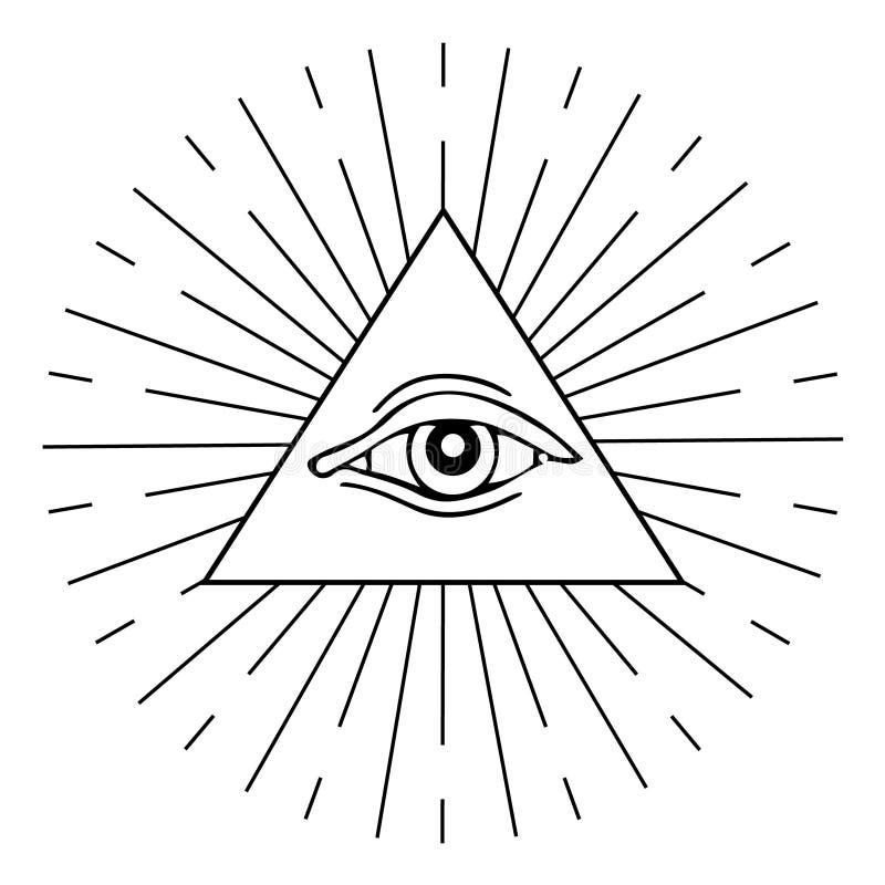 Auge von Providence vektor abbildung