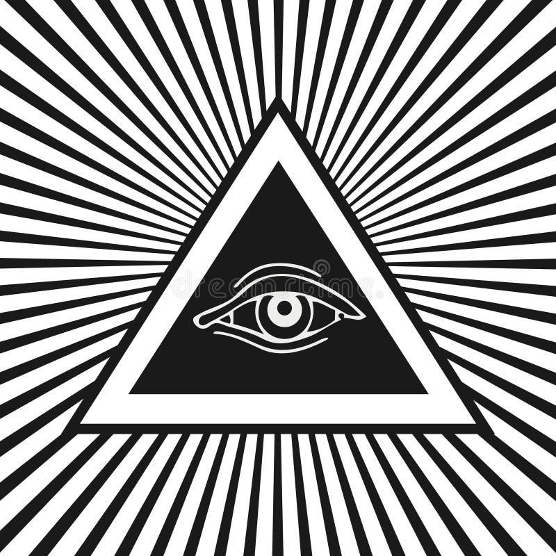 Auge von Providence stock abbildung