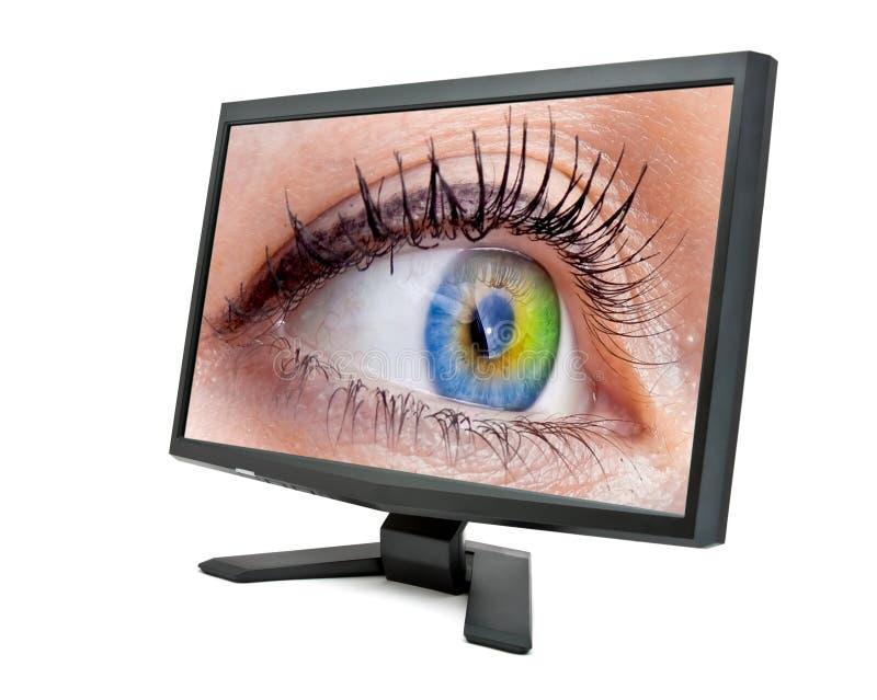 Augenüberwachungsgerät lizenzfreie stockfotografie