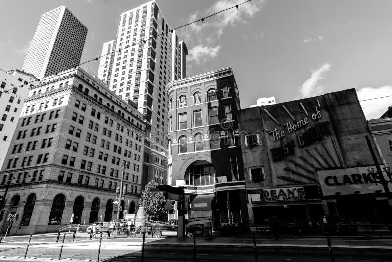 Augen öffnen weit im Stadtzentrum gelegenes Houston lizenzfreies stockbild