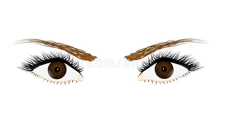 Augen vektor abbildung