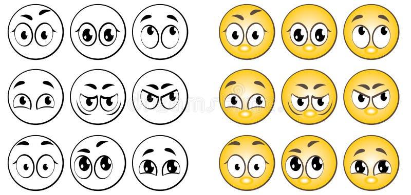 Download Augen vektor abbildung. Illustration von emotional, zorn - 9091613