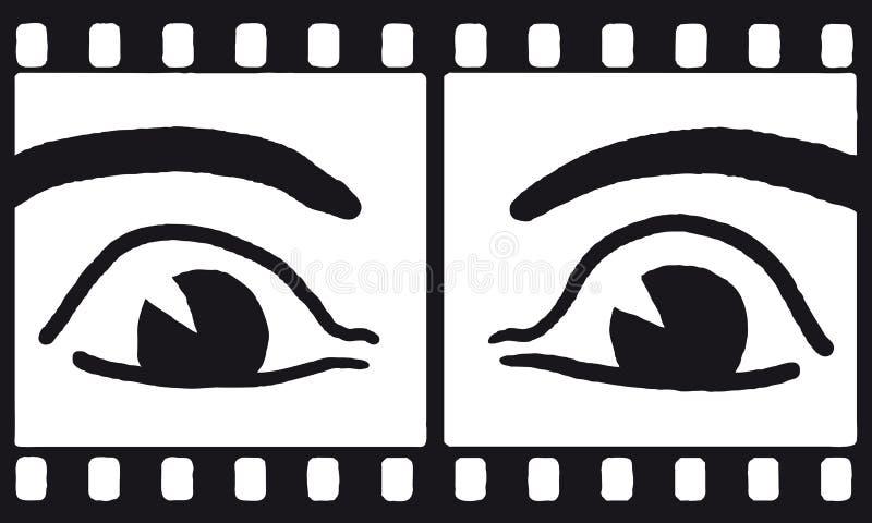 Augen auf Film (Vektor) lizenzfreie abbildung