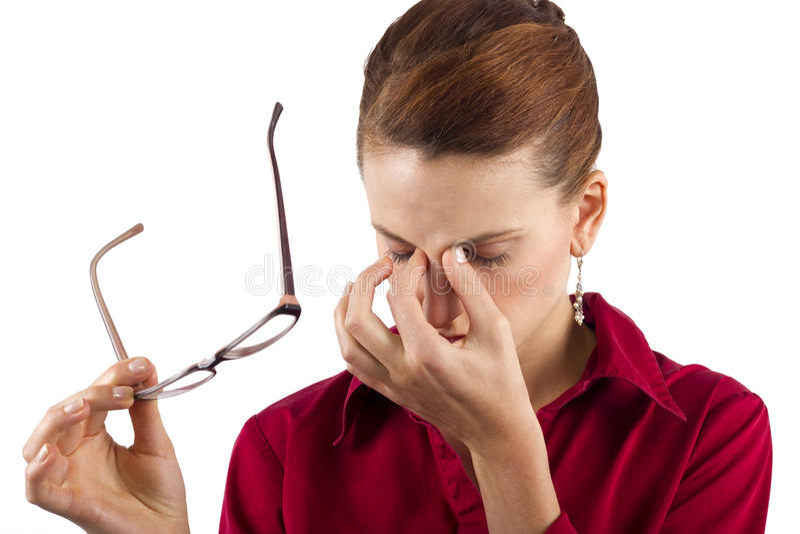 Augen-Belastung stockfotografie