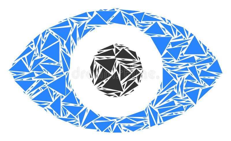 Augen-Collage von Dreiecken vektor abbildung