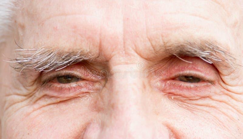 Augen des alten Mannes lizenzfreie stockfotografie