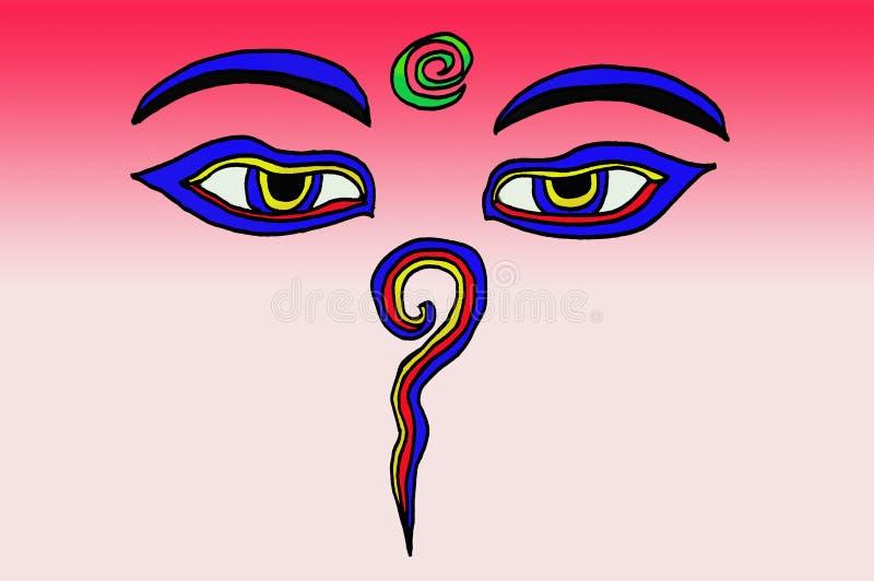 Augen des Buddhas vektor abbildung