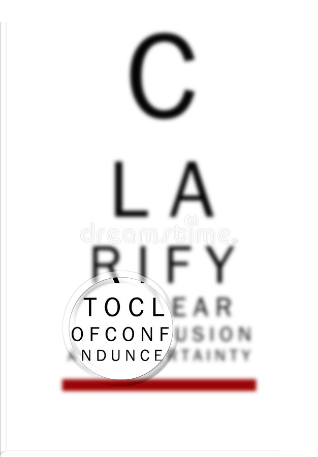 Augen-Diagramm erklären 2 lizenzfreie abbildung