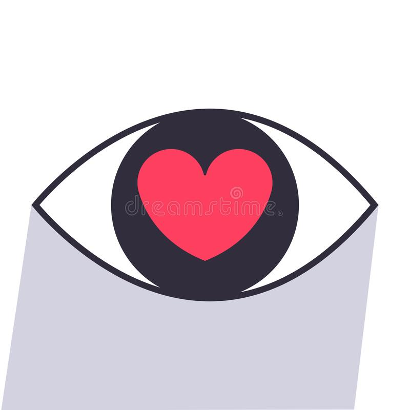 Augen-Herzikonenvektor lizenzfreie stockfotografie