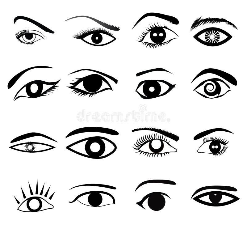 Augen-Ikonen-Satz stock abbildung