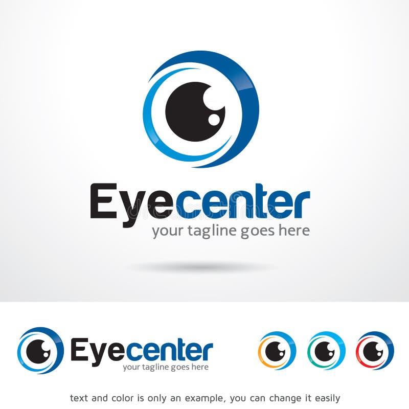 Augen-Mitte Logo Template Design Vector vektor abbildung