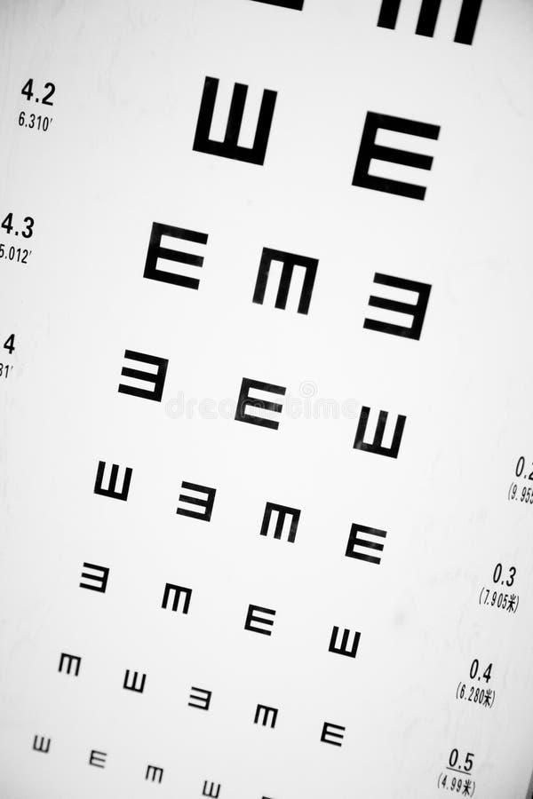 Augen-Prüfung-Diagramm stockfotos