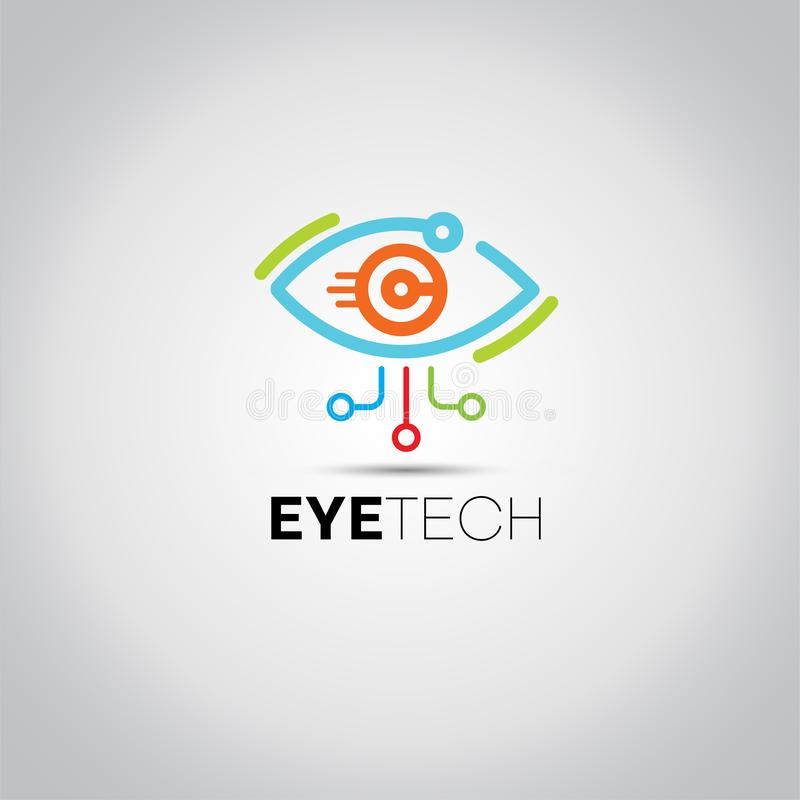 Augen-Technologie-Daten-Logo lizenzfreie abbildung