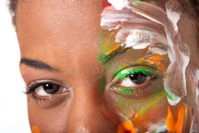 Augen und facepaint lizenzfreie stockbilder