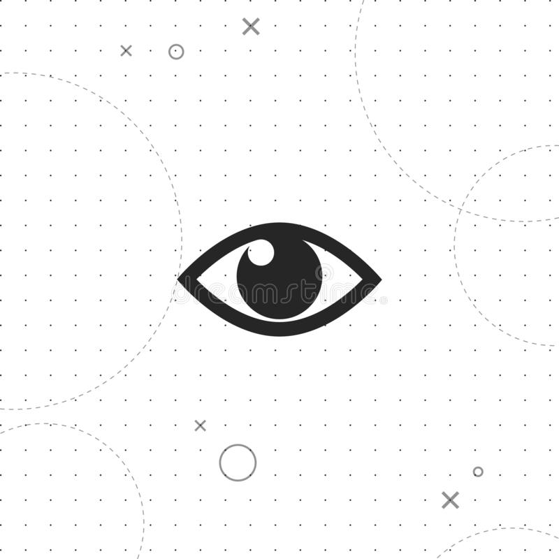 Augen-Vektor-Ikone stock abbildung