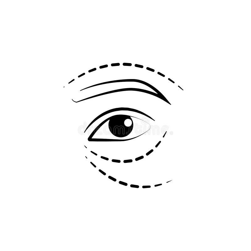 Augenaufzugikone Element der Antialternikone für bewegliche Konzept und Netz apps Dünne Linie Augenaufzugikone kann für Netz und  stock abbildung