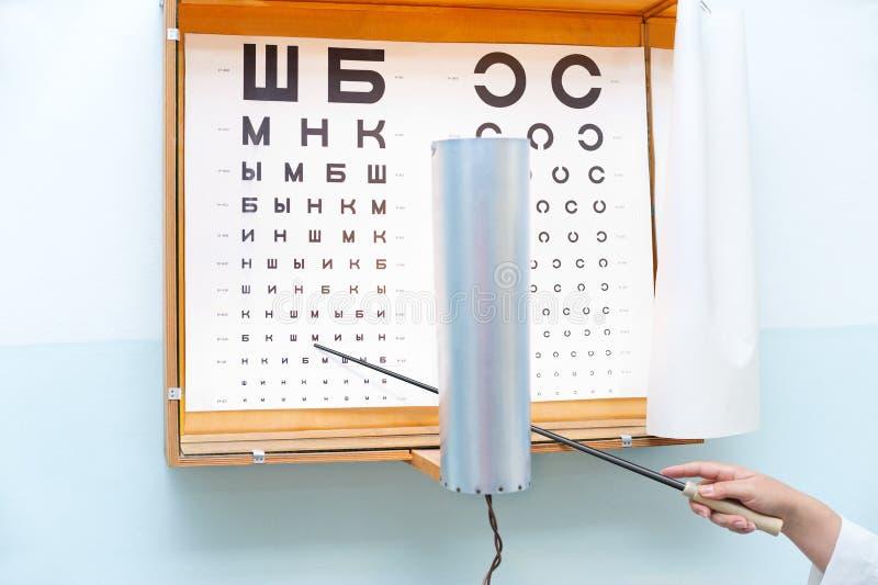 Augendiagramm am Oculist lizenzfreies stockfoto